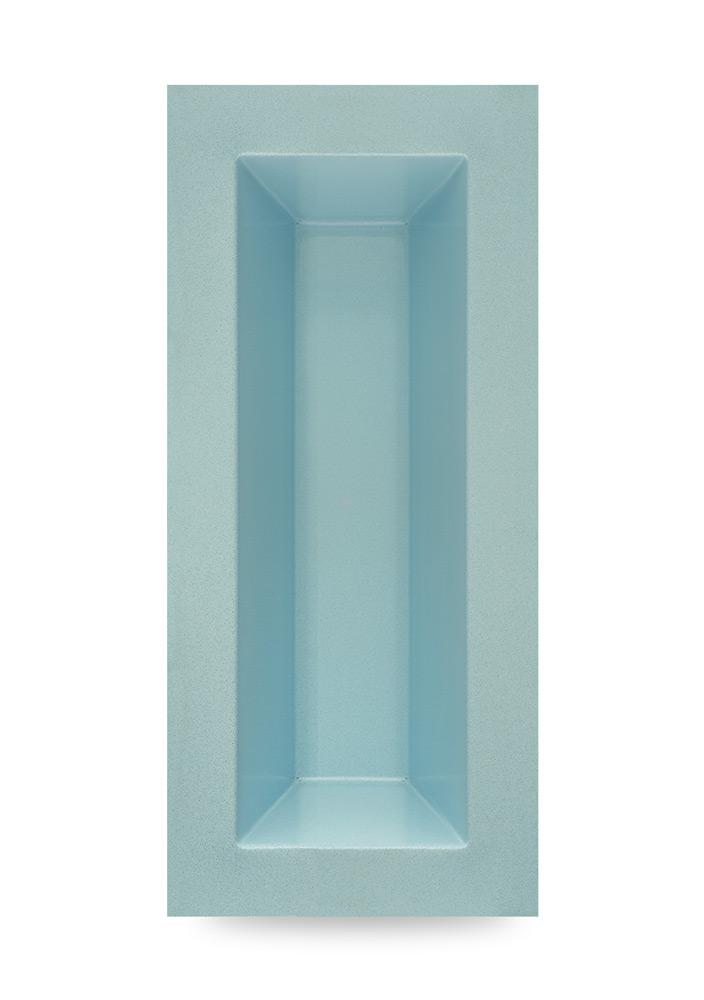 M+W Gartenflair GFK Teichbecken rechteckig 350 Liter blau-granit