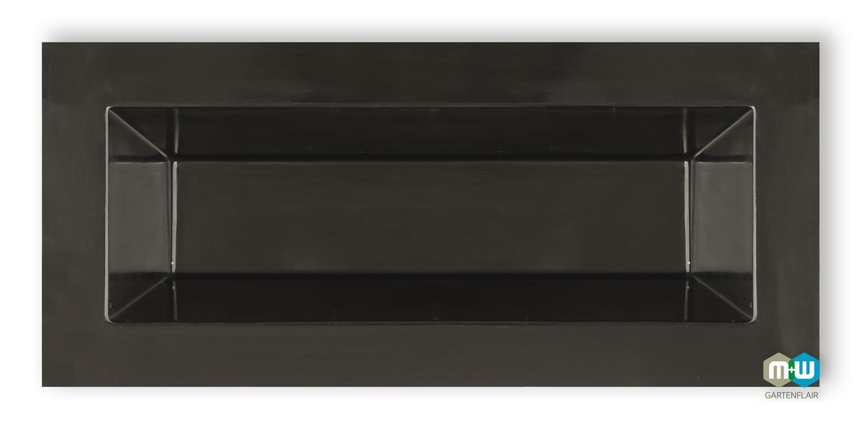 gfk teichbecken rechteckig 350 liter f r balkon terrasse und garten. Black Bedroom Furniture Sets. Home Design Ideas