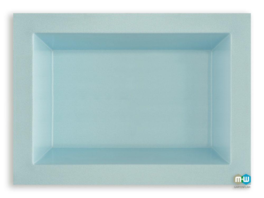 MW Gartenflair | GFK Teichbecken rechteckig 660 Liter blau-granit