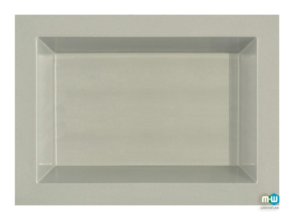 MW Gartenflair | GFK Teichbecken rechteckig 660 Liter grau-granit