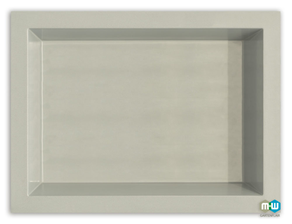 M+W Gartenflair GFK Teichbecken rechteckig 1460 Liter quer grau-granit