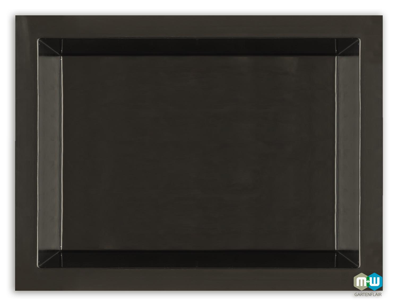 M+W Gartenflair GFK Teichbecken rechteckig 1460 Liter quer schwarz