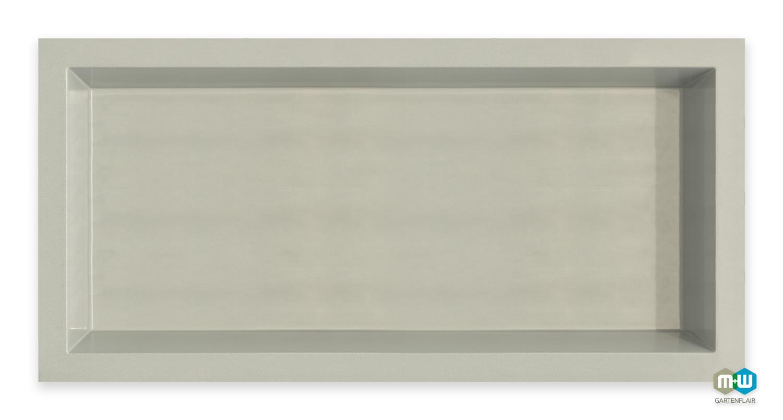 M+W-Gartenflair-GFK-Teichbecken-rechteckig-2500-Liter-6075-grau-granit