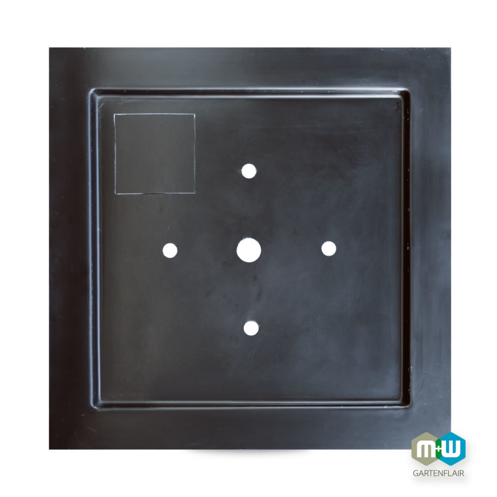 M+W-Gartenflair GFK Teichbecken quadratisch Deckel quadratisch