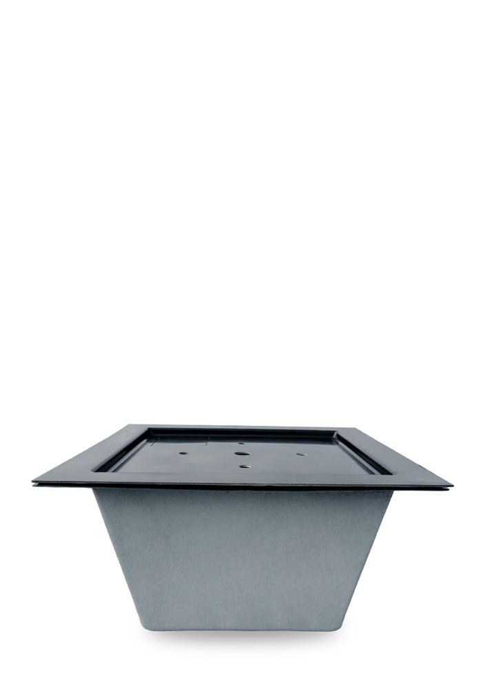M+W Gartenflair GFK-Teichbecken quadratisch mit Deckel 520 mm tief