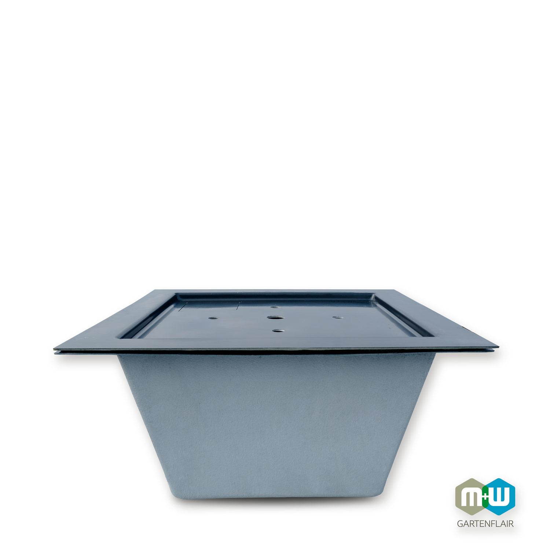 M+W Gartenflair GFK-Teichbecken quadratisch mit optionalem Deckel