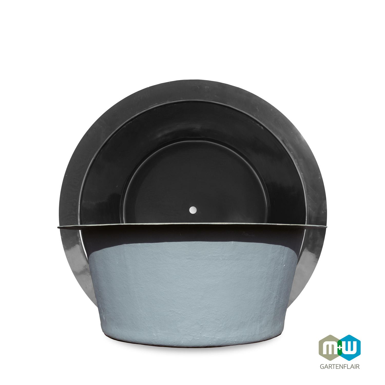 M+W Gartenflair GFK Teichbecken rund 320 Liter Durchmesser 1100 mm
