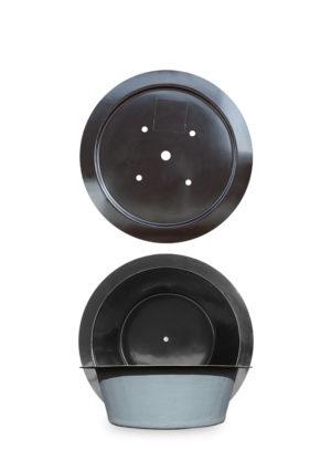 M+W Gartenflair GFK Teichbecken rund 500 Liter mit Deckel Durchmesser 1400 mm