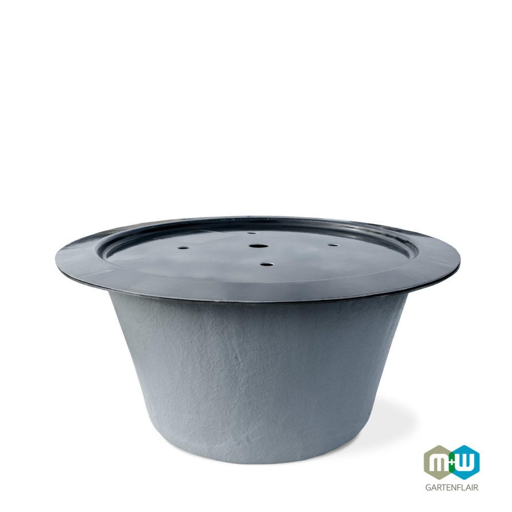 M+W Gartenflair | GFK Teichbecken rund 520 mm mit optionaler Abdeckung