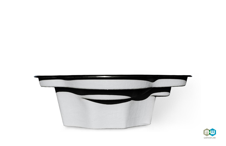 M+W-Gartenflair-GFK-Gartenteich-Elbe-1350-Liter-schwarz-Seite